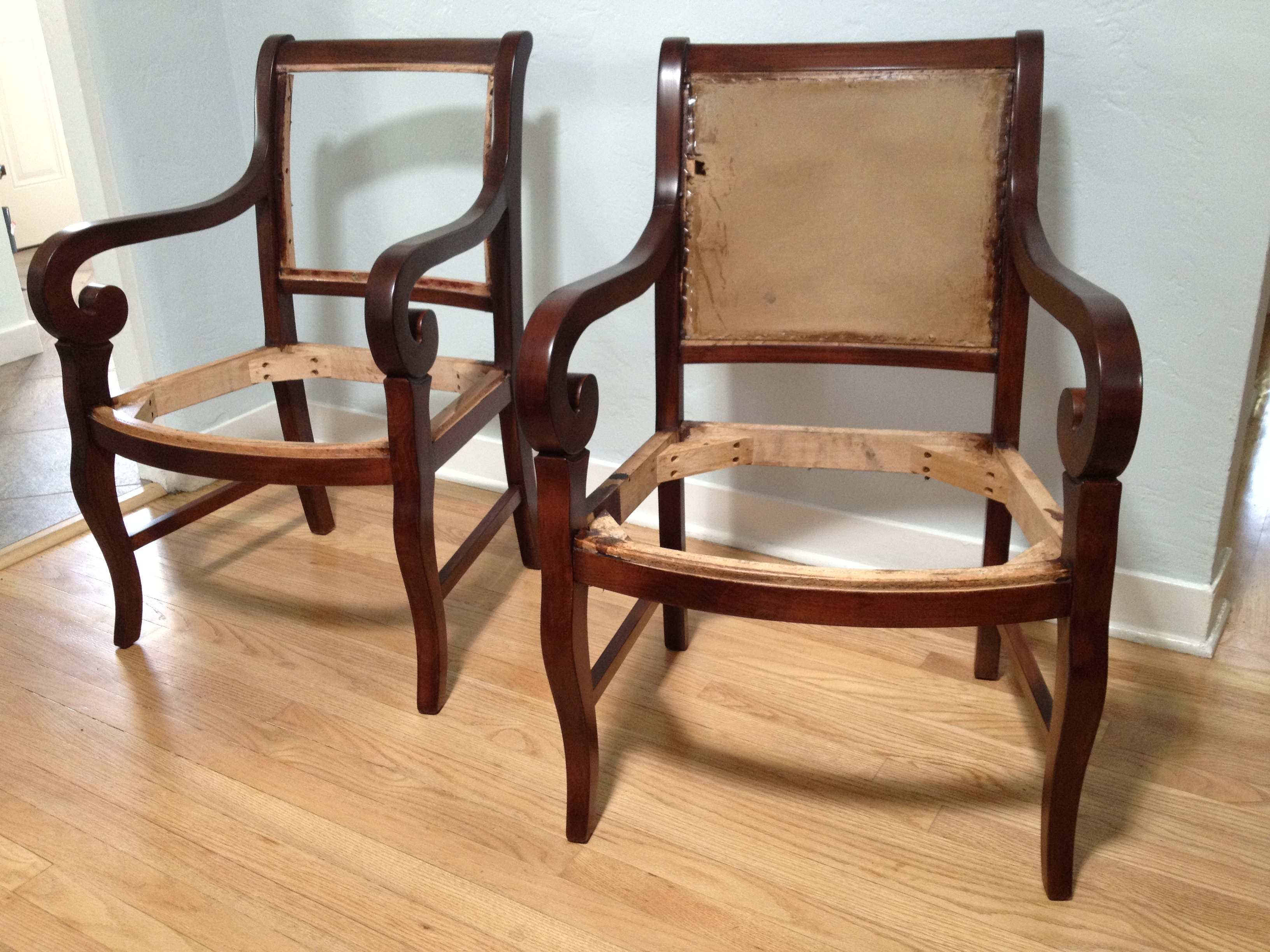 fairfield chairs strip color match and refinish